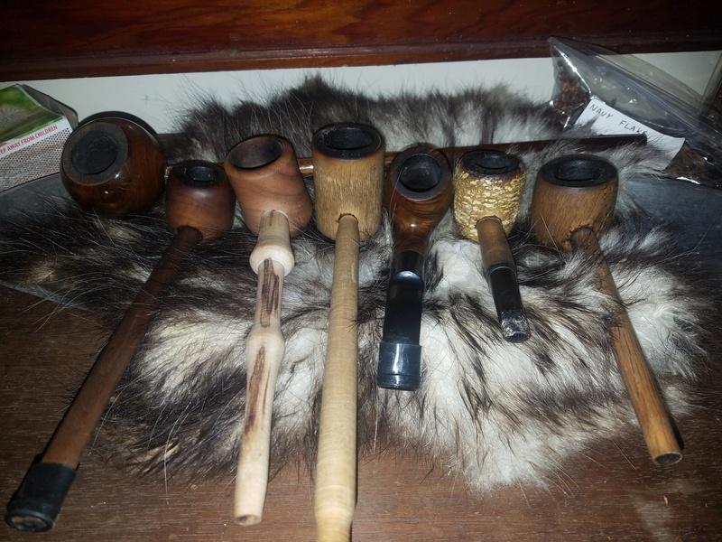 Possum fur pipe Rack  20161214