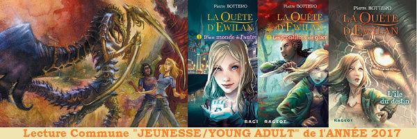 """Lecture Commune """"JEUNESSE/YOUNG ADULT"""" de l'ANNÉE 2017 Ewilan10"""