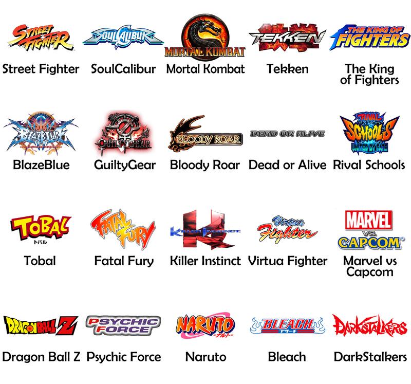 Concours Jeux de Combats : Versus Fighting Liste10