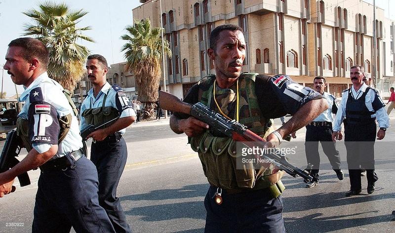 Two Iraqi Police Armbands/Brassards 23809210