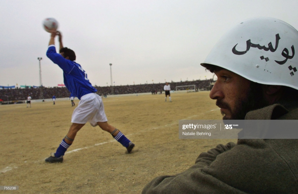 Soviet Helmet used by Afghan police Gettyi17