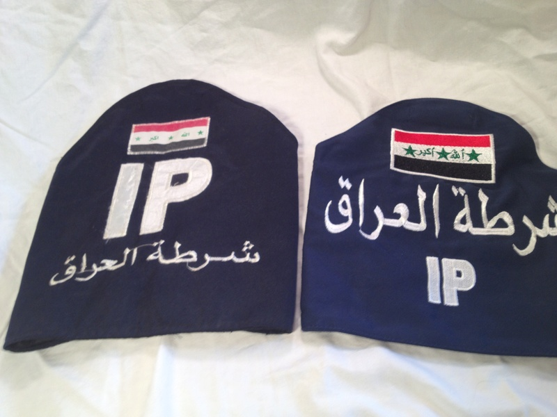 Two Iraqi Police Armbands/Brassards Img_2511