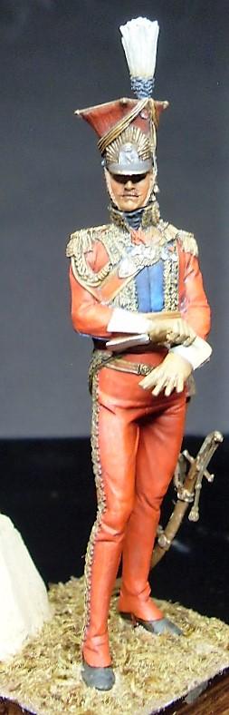 Les Lanciers de la Garde - Général Edouard de Colbert - figurine Atelier Maket - 75 mm - peinture à  Sdc11011