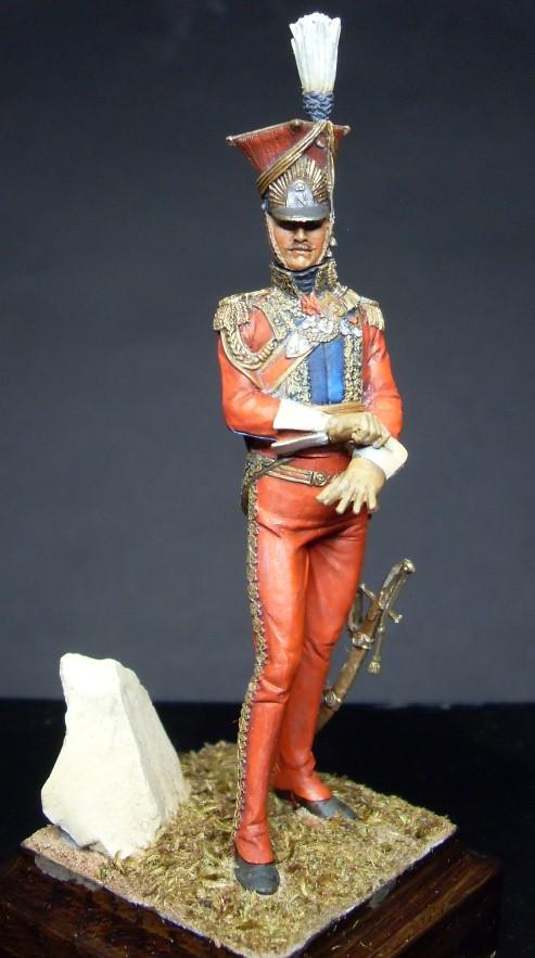 Les Lanciers de la Garde - Général Edouard de Colbert - figurine Atelier Maket - 75 mm - peinture à  Sdc11015
