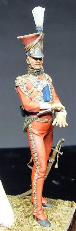Les Lanciers de la Garde - Général Edouard de Colbert - figurine Atelier Maket - 75 mm - peinture à  Sdc11016