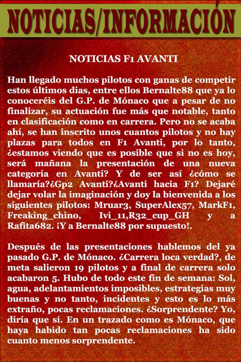 MAGAZINE F1 AVANTI. NÚMERO 7 (20/12/2016) 04_not12