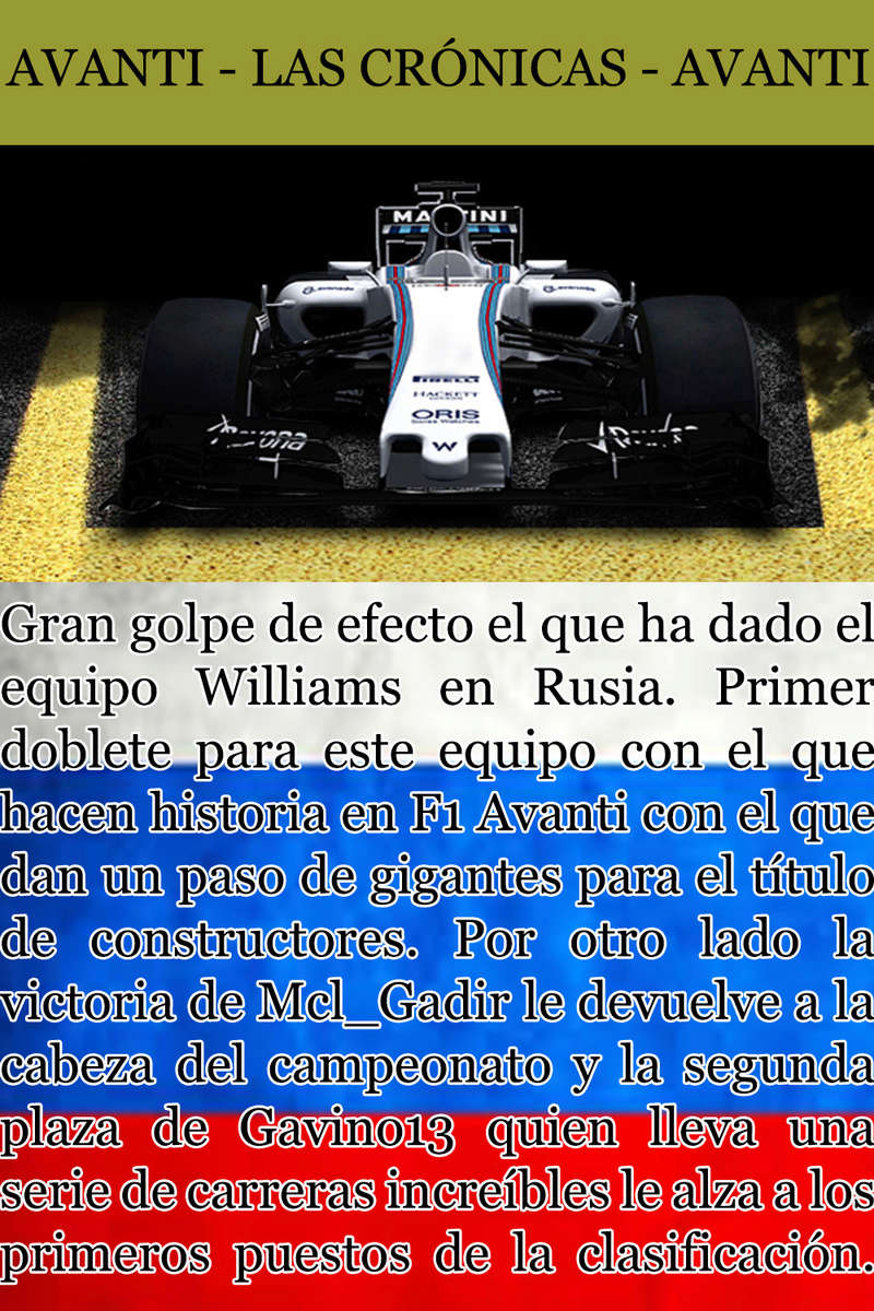 MAGAZINE F1 AVANTI. NÚMERO 5 (20/11/2016) 13_wil10