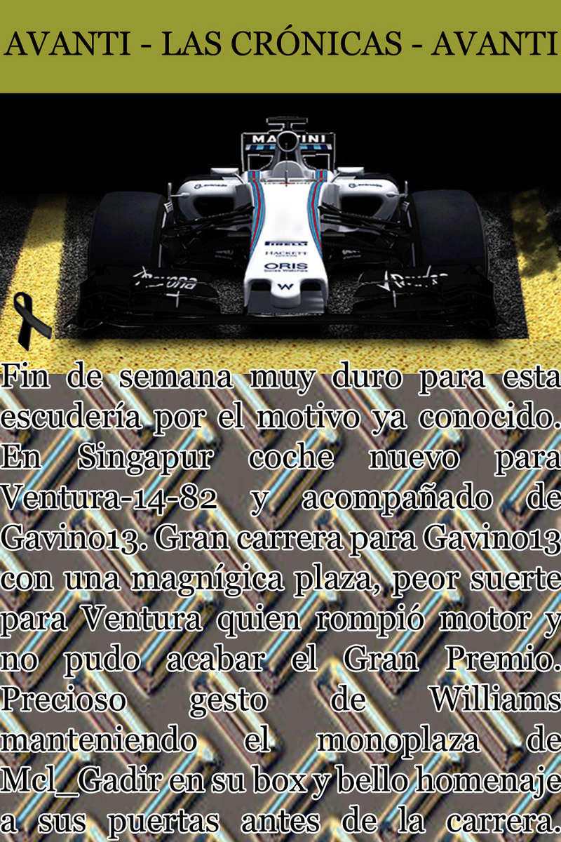 MAGAZINE F1 AVANTI. NÚMERO 8 (27/12/2016) 13_wil11