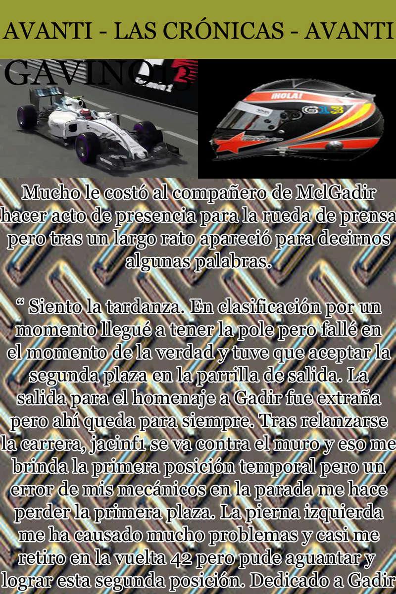 MAGAZINE F1 AVANTI. NÚMERO 8 (27/12/2016) 14_gav10
