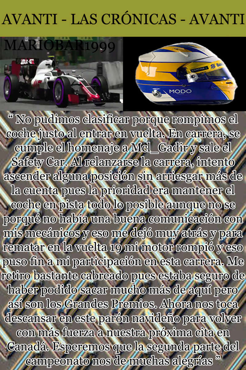 MAGAZINE F1 AVANTI. NÚMERO 8 (27/12/2016) 27_mar10