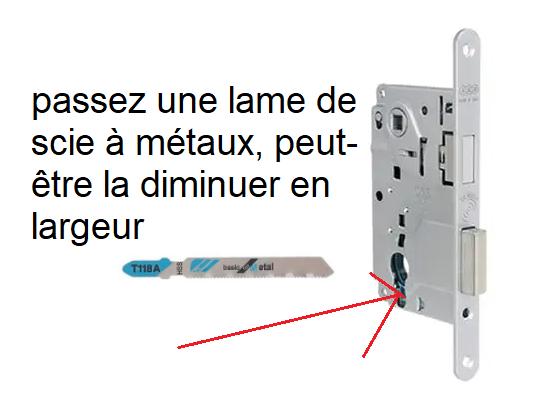 Problème de changement de barillet sur serrure d'une porte Captu234