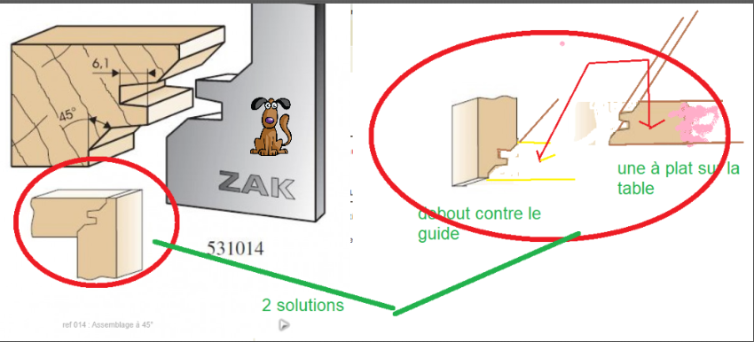 Assemblage tiroirs onglet verrouillé  Zotabl15