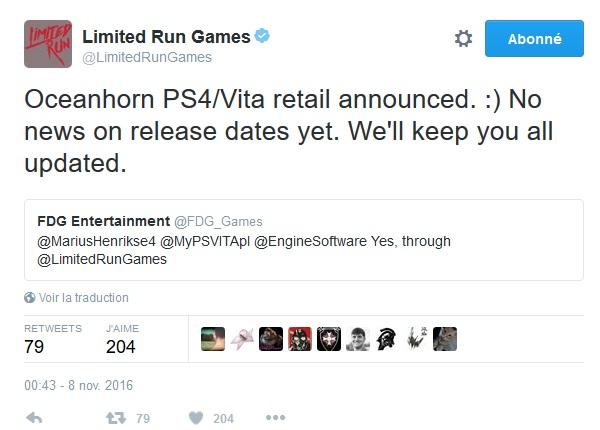 Limited Run Games et autres éditeurs d'indies - Page 6 Oceanh10
