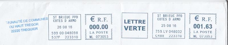 Étiquettes de machine à affranchir.. Gfda10