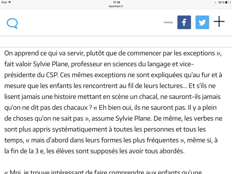 Nouvelles injonctions en grammaire (Le Parisien) et discussion sur le prédicat  Image29