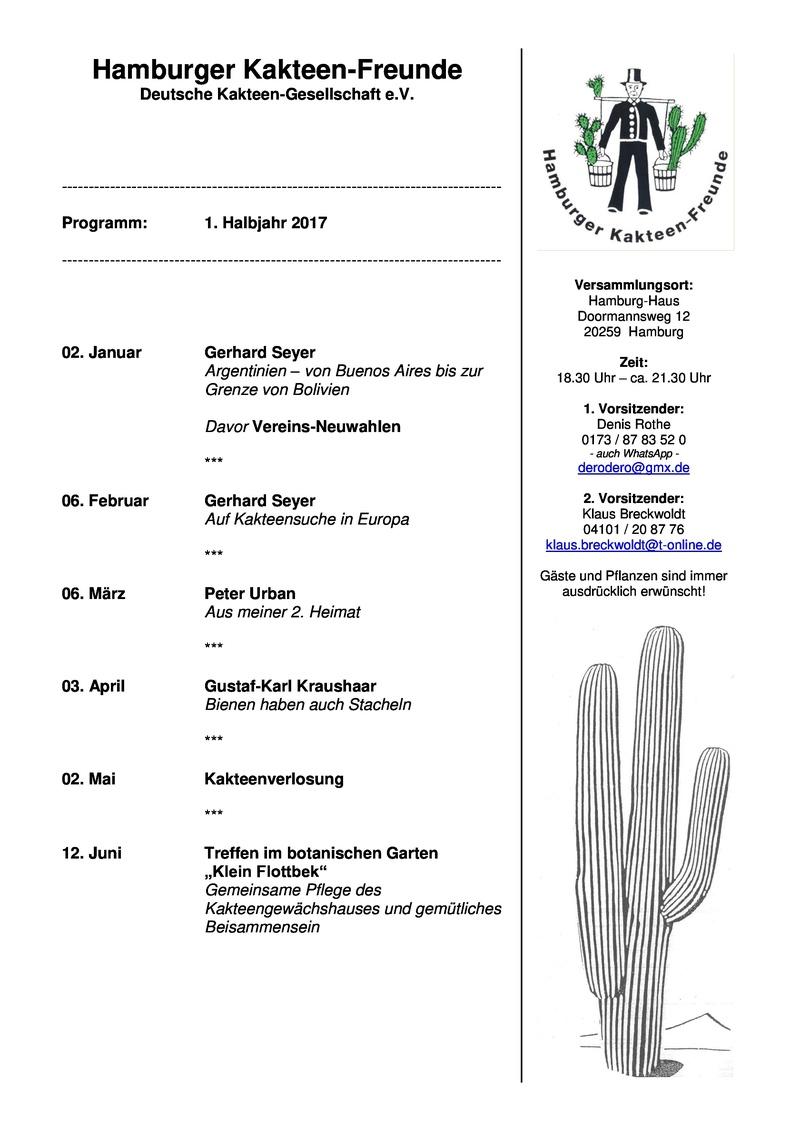 Hamburger Kakteenfreunde Programm 1. Halbjahr 2017 Kaktee10