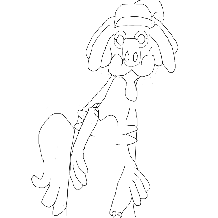 Monsters can draw too Drampa10