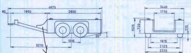 LES VEHICULES DE LA 4th INFANTRY DIVISION : LA REMORQUE 2t FRUEHAUF M17 M1710