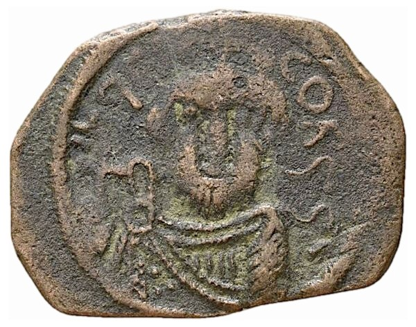 Prototype et imitation Arabe de monnaie Byzantine ...  Arab_b10