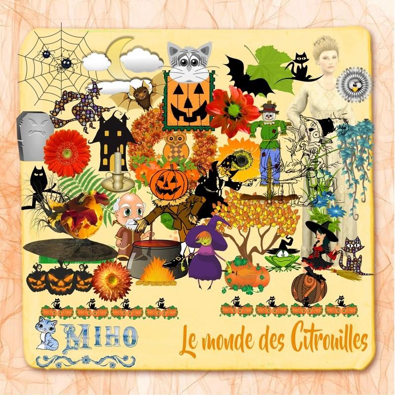 """Kit """"Le monde des citrouilles"""" Miho_d16"""