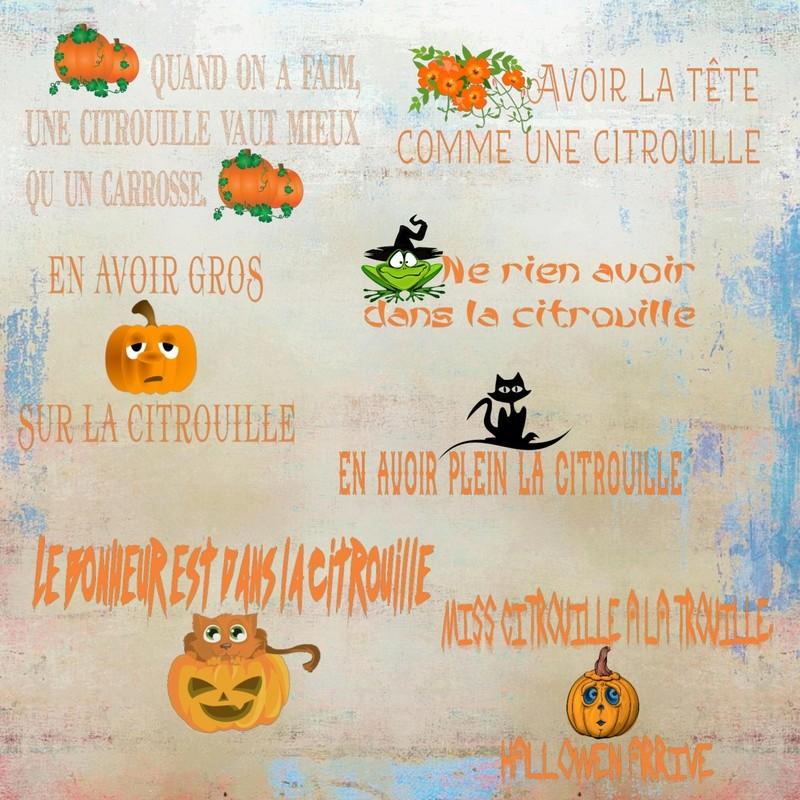 """Kit """"Le monde des citrouilles"""" Miho_d17"""