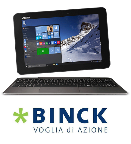 BINCK regala 1 ASUS Transformer Book T100HA o 250 € in commissioni trading [scaduta il 28/02/2017] 1_asus10