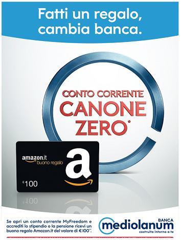 BANCA MEDIOLANUM regala BUONO AMAZON 100 € [scaduta il 30/04/2017] Aaa11