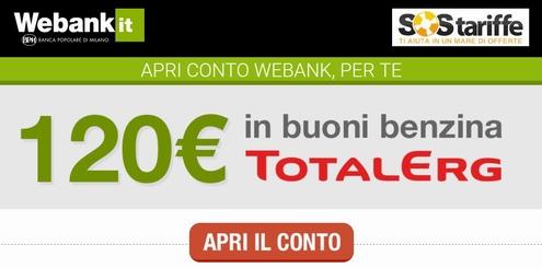 WEBANK & SOS TARIFFE regalano BUONO CARBURANTE TOTAL ERG € 120 [promozione scaduta il 04/12/2018] Cattur16