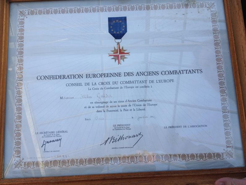 diplome confédération européenne des anciens combattants Img_0238