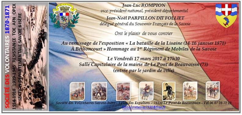 EXPO Bataille de la Lisaine - Hommage au 1er Bataillon des Mobiles de Savoie Invita10