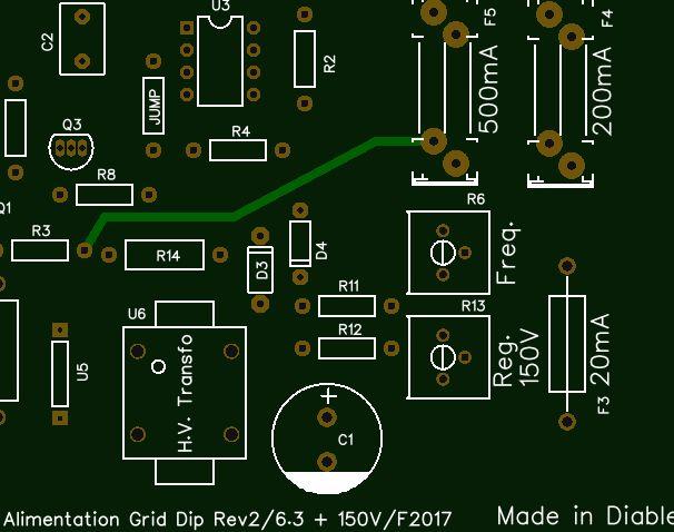 Alim G.D.O. Révision 1 : Réalisation du circuit imprimé de cette version Captur11