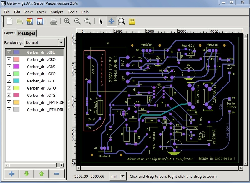 Alim G.D.O. Révision 1 : Réalisation du circuit imprimé de cette version Captur15