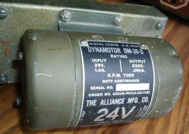 C'est décidé, le BC603 avec sa convertisseuse dynamotor dm 34 va reprendre du service ! Dm3410