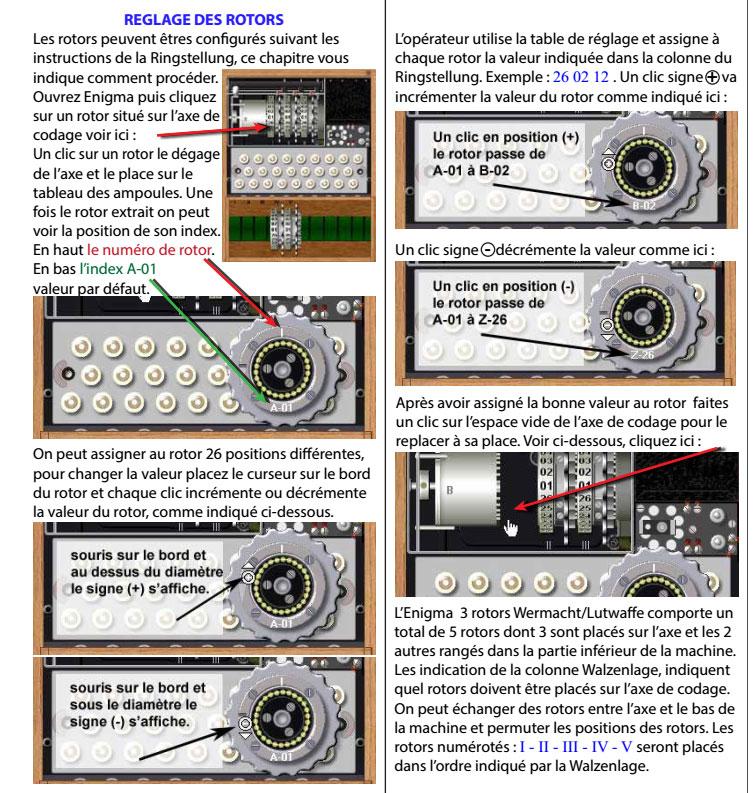 Mode d'emploi de la machine Enigma traduit par Adri - les 6 premières pages E410