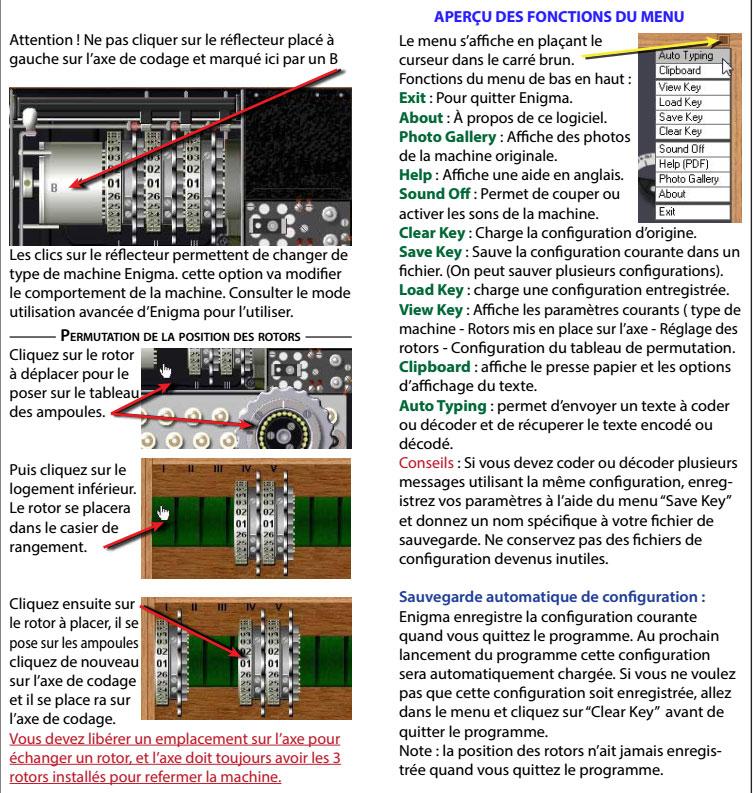 Mode d'emploi de la machine Enigma traduit par Adri - les 6 premières pages E510