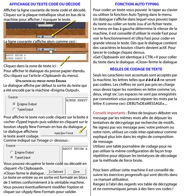 Mode d'emploi de la machine Enigma traduit par Adri - les 6 premières pages E610