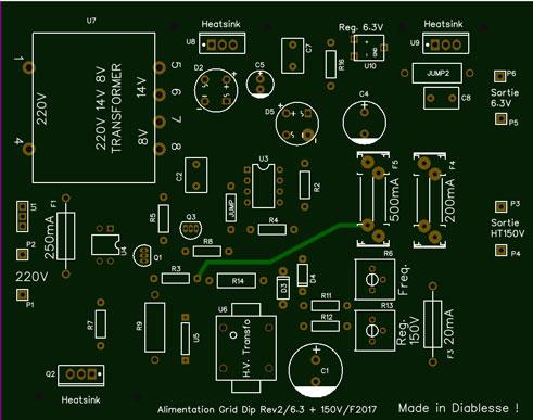 Alim G.D.O. Révision 1 : Réalisation du circuit imprimé de cette version Gdo-co10