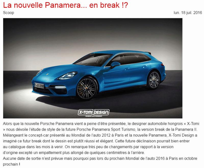 La Panamera Break * Info ou Intox . . . ? ? ? Paname10