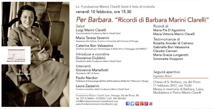 "Per Barbara. ""Ricordi di Barbara Marini Clarelli"" Locand12"