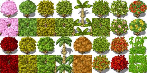 Bibliothèque des ressources VX Ace Tilesets Treesy10