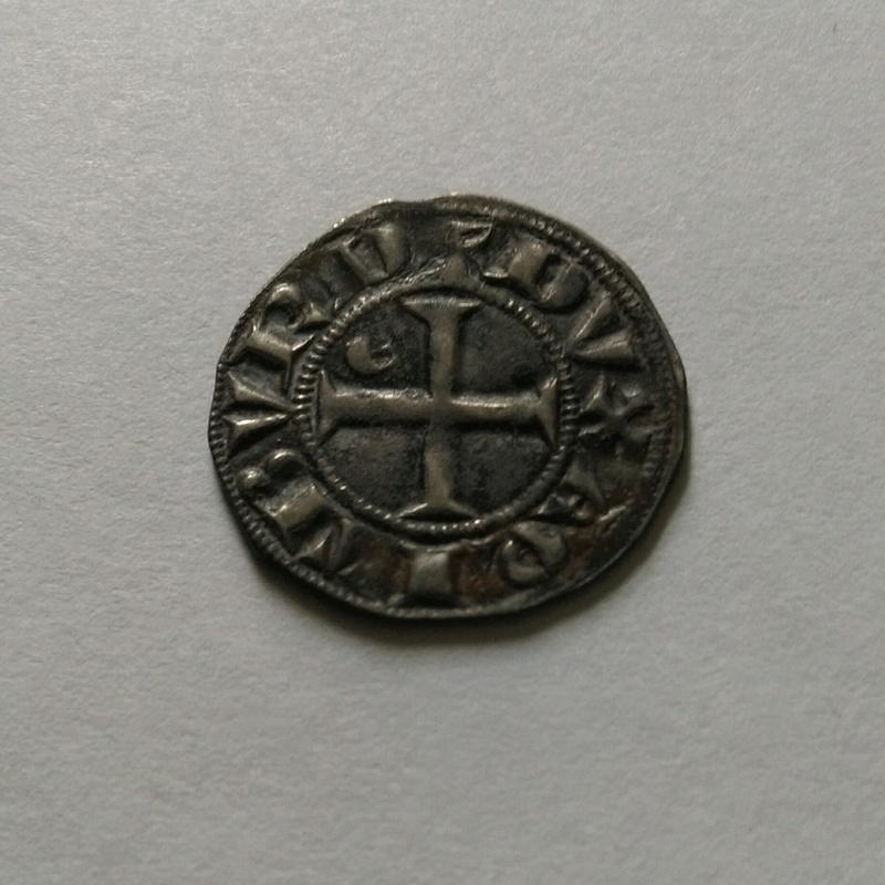 Duché d'Aquitaine, Édouard Ier, Denier au léopard 1er type (1291) 113210