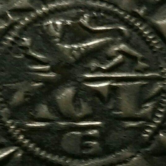 Duché d'Aquitaine, Édouard Ier, Denier au léopard 1er type (1291) 115111
