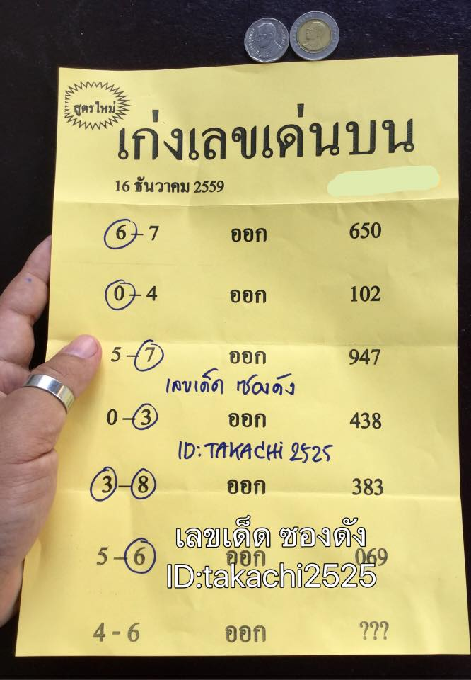 Thailand lottery 2016.12.30 15390910