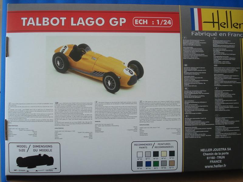 Talbo Lago GP - ref : 80721 -1/24e / Réedition 2016 Dsc06015