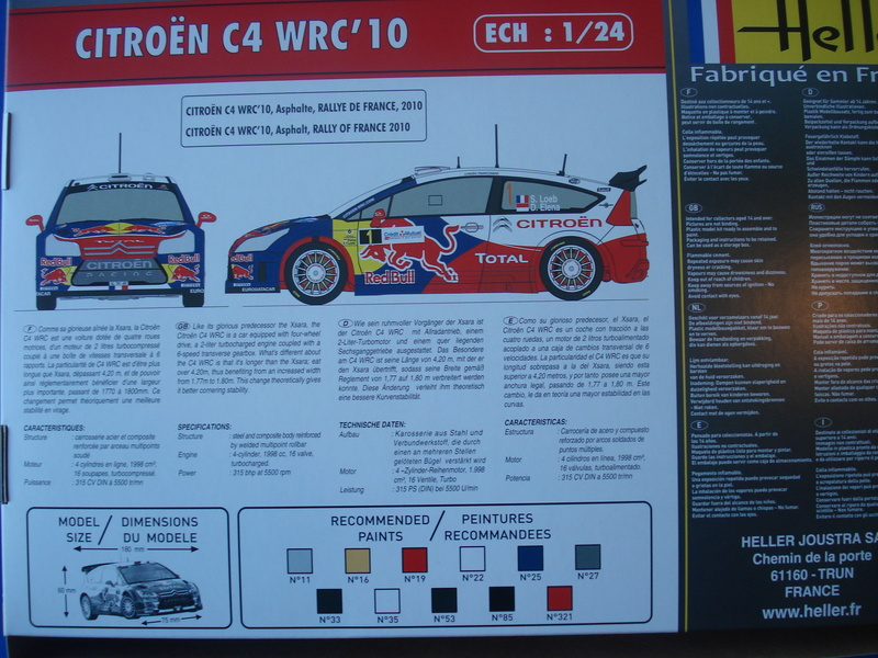 [HELLER] CITROEN C4 WRC '10 - 1/24e ref : 80756 Dsc06037
