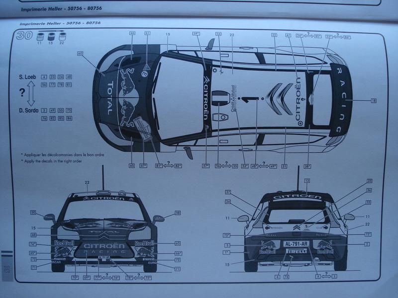 [HELLER] CITROEN C4 WRC '10 - 1/24e ref : 80756 Dsc06072