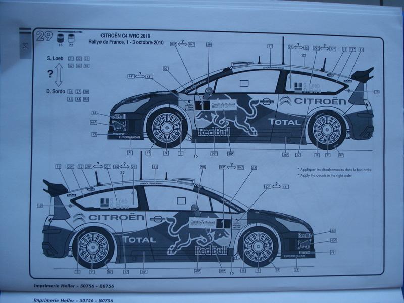 [HELLER] CITROEN C4 WRC '10 - 1/24e ref : 80756 Dsc06073