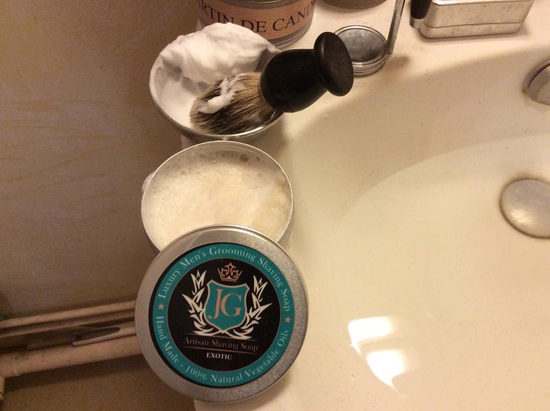JG Artisan shaving soap exotic. Img_0426