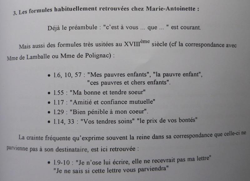 Testament / Lettre de Marie-Antoinette à Madame Elisabeth, le 16 octobre 1793 Imgp5367