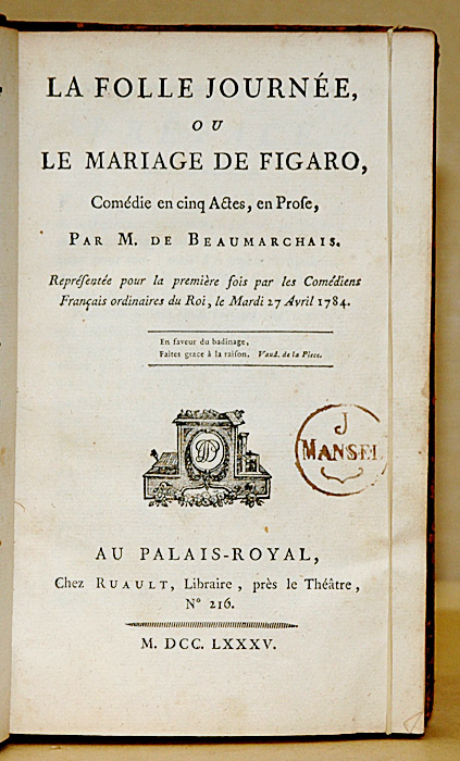 Le Mariage de Figaro, de Beaumarchais Mariag11